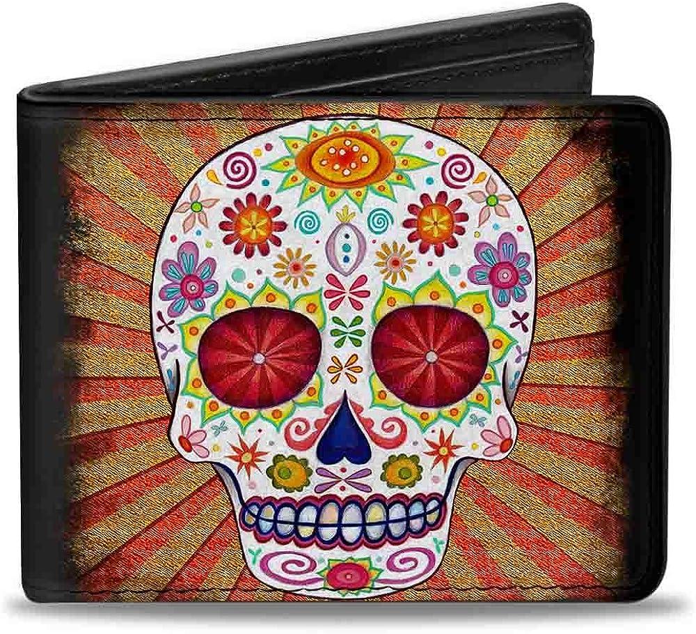 Buckle-Down Bifold Wallet Thaneeya Sugar Skulls