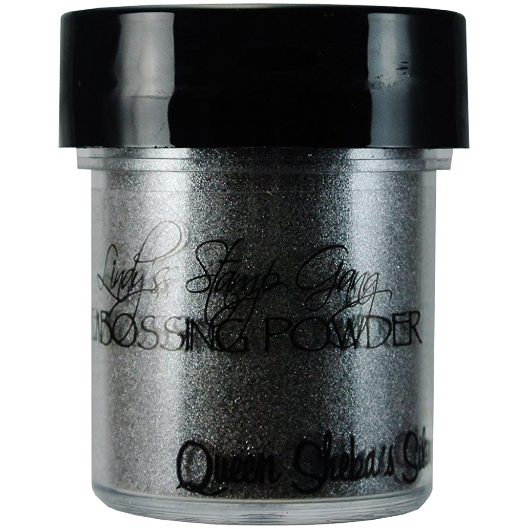 Lindy's Stamp Gang 2-Tone Embossing Powder, 0.5-Ounce, Queen Sheba's Silver