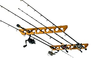 Organized Fishing Horizontal Ceiling Rack for Fishing Rod Storage