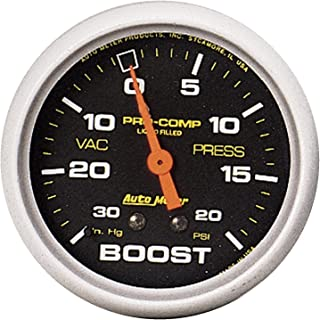 AUTO METER 5401 Pro-Comp Liquid-Filled Mechanical Vacuum/Boost Gauge