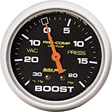 AUTO METER 5401 Pro-Comp Liquid-Filled Mechanical Vacuum/Boost Gauge