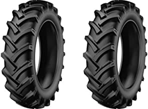 Two New 5.00-12 StarMaxx Compact Farm Tractor Trencher Tires & Tubes R1 Lug 4Ply Rated