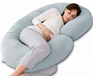 Marine Moon Pregnancy Pillow C Shaped, Maternity Pillow and Full Body Pillow with Jersey Cover