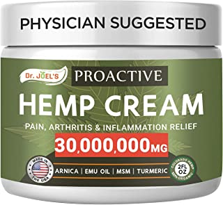 Best Proactive Pain Relief Cream - 30,000,000 Extract - Maximum Strength Muscle, Joint & Arthritis Relief Cream - Made & 3rd Party Tested in USA Review