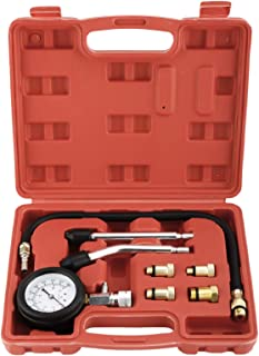 FreeTec Compressietester voor motorvoertuigen, compressie tester 0-20 bar of 0-300 psi verdichtingsmeter