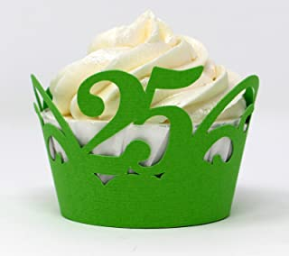 All About Details 25 Cupcake Wrappers,12pcs (Green)