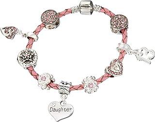 Jewellery Hut Bracelet Mickey et Minnie Mouse pour anniversaire d/'enfant /1 /à 11 ans Bracelet pour filles avec bo/îte cadeau/ //âges disponibles/