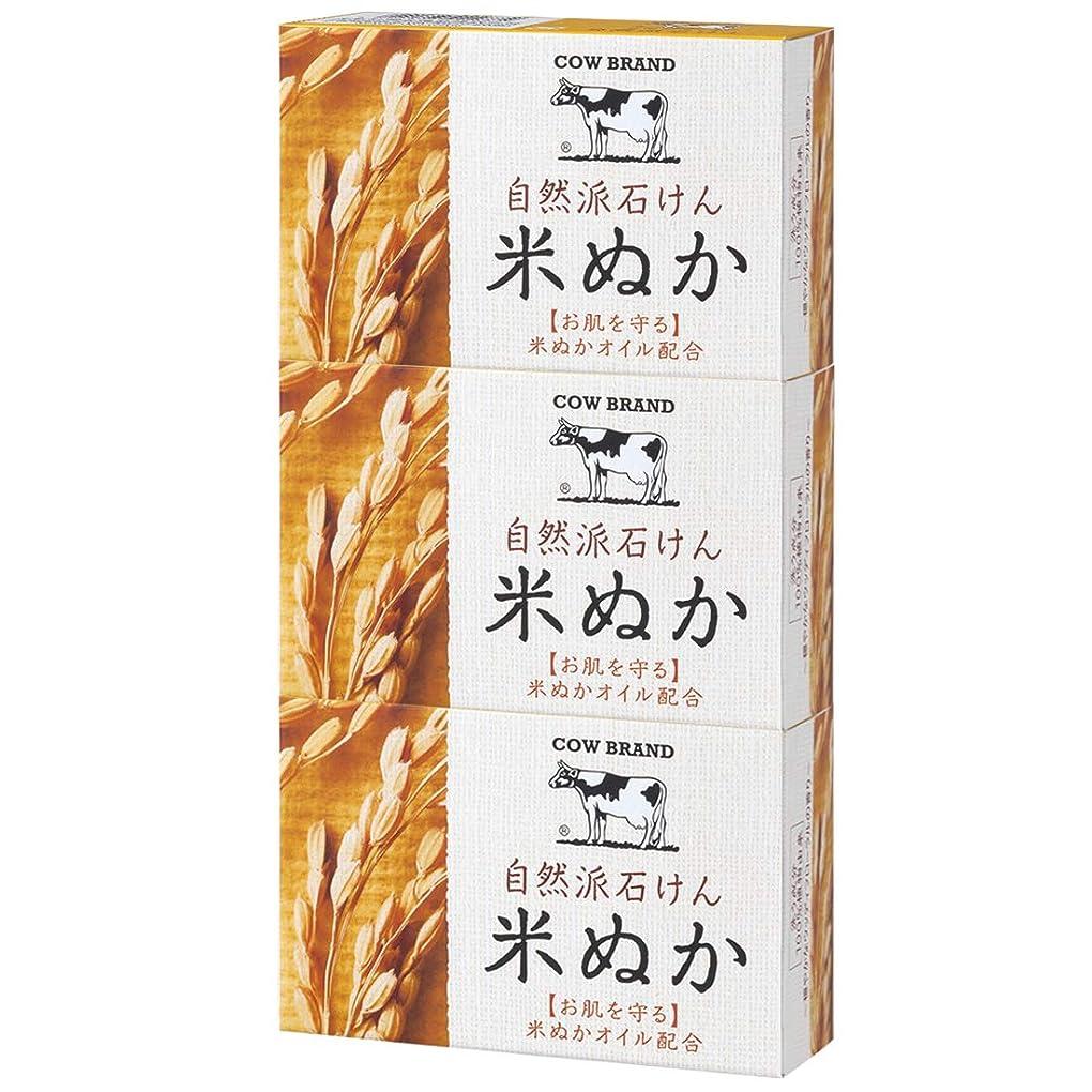 清める不測の事態読書をするカウブランド 自然派石けん 米ぬか 100g*3個