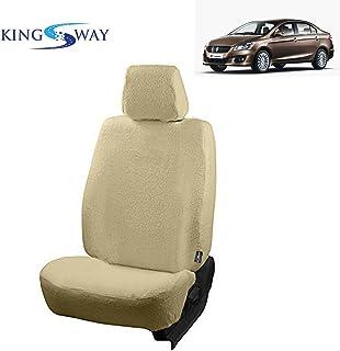 Kingsway kkmtwlscbg00020 Cotton Towel Fabric Seat Covers for Maruti Suzuki Ciaz (Beige)