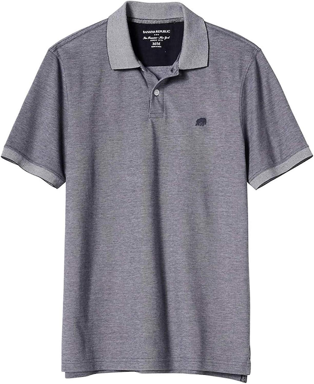 Banana Republic Factory Men S Classic Fit Polo Shirt Elephant Logo Short Sleeve At Amazon Men S Clothing Store