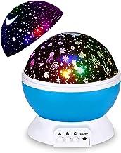 Night Light Projector, Updated 2 in 1 Kids Night Light Moon Star Projector and Undersea Lamp, Star Night Light 360-Degree ...
