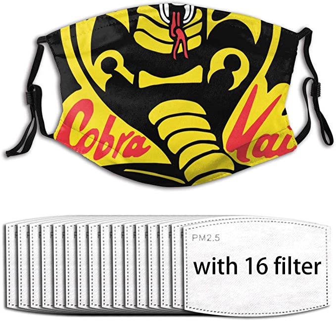 Funda para la Boca Cobra Kai Face Protection Funda Lavable para el Rostro para ni/ños Adultos