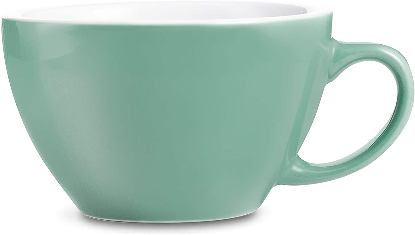LOVERAMICS Egg Style Cappuccino Cup And Saucer 200ml 6 7 Oz Mint 6