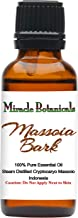 Miracle Botanicals Massoia Bark Essential Oil - 100% Pure Cryptocaryo Massoio - Therapeutic Grade - 30ml