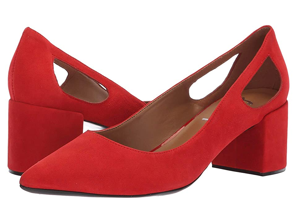 French Sole Courtney2 Heel (Red Suede) Women