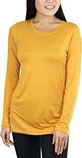 ToBeInStyle Women's Basic Crew Neck Long Sleeve Tee