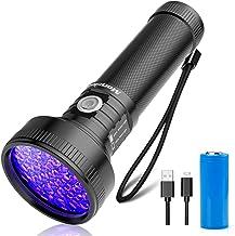 Oplaadbare UV Zaklamp, Morpilot® 51 LED UV Black Light Zaklamp 395nm Ultraviolet met USB Kabel en 3000mAh Oplaadbare Batte...