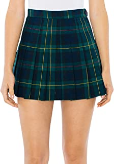 American Apparel Women's Plaid Tennis Skirt