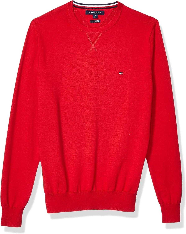 Tommy Hilfiger 高級 Men's Cotton 毎日激安特売で 営業中です Sweater Neck Crew