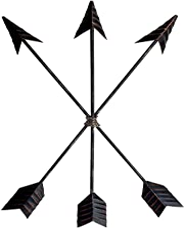 Crafia Cast Iron Metal Native American Arrow Wall Decor and Wall Sculptures   Metal Wall..