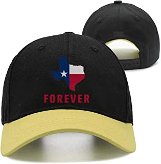 ONEYUAN Classic Cotton Flat Cap for Men and Women,I Love Texas Forever Style Low Profile Travel Sunscreen Hat Outdoors