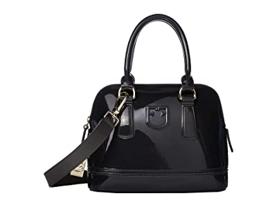 Furla Candy Mini Dome (Asfalto) Handbags