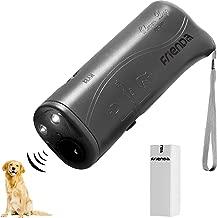 Frienda LED Ultrasonic Dog Repeller and Trainer Device 3 in 1 Anti Barking Stop Bark Handheld Dog Training Device (Gray)