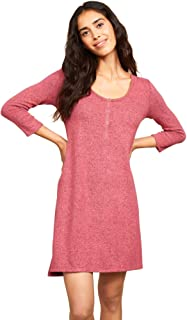 Motherhood Maternity Women's Maternity Brushed Hacci Henley Chemise Gown