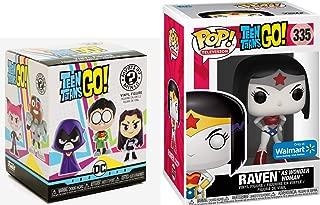 Funko Wonder Raven Teen Titans Vinyl Pop! Figure DC Woman #335 + Bundled Minis Blind Box Character 2 Items