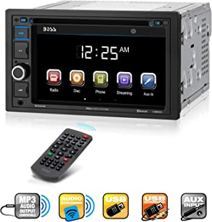 Boss Audio Systems BV9364B Car Stereo DVD Player - Double Din, Bluetooth Audio/Hands-Free Calling, 6.2 Inch Touchscreen LC...