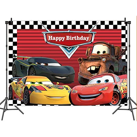 Zhy Racing Car Backdrop for Photography 7x5ft 2.1x1.5m Race Car Competition Background Party Decor Supplies Photo Shooting Props 160