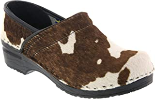 Bjork Professional Safari Collection Leather Clogs in Brown Cow