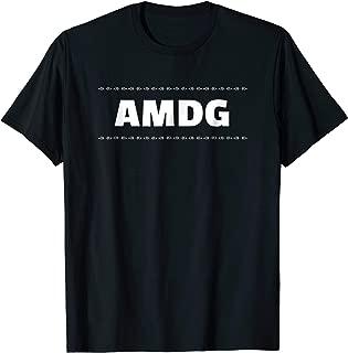 AMDG   For the Greater Glory of God Latin Catholic T-Shirt