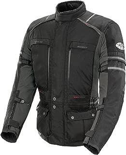 Joe Rocket Ballistic Adventure Men's Textile Touring Motorcycle Jacket (Black/Gunmetal, Small)