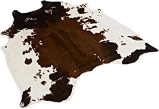 Alfombra, estampado de piel de vaca, piel sintética, aprox. 135x 140cm