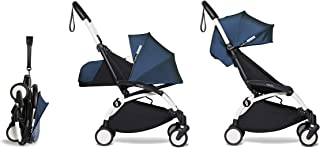 Babyzen YOYO2 Stroller & Newborn Set - White Frame with Air France Blue Fabrics