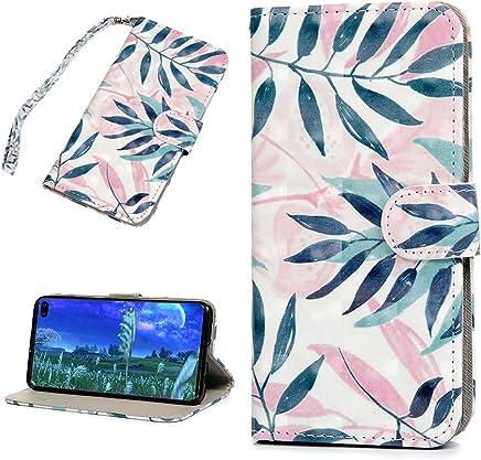 F�r Samsung Galaxy S10 Plus H�lle Leder Tasche PU Leder H�lle Gemalt Muster Flip Brieftasche Kartenhalter Magnetschnalle St�nder Sto�fest Kratzfest Sto�stange Handyh�lle Blatt malen