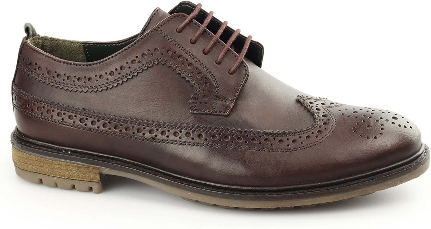 Silver Street London FENCHURCH Mens Leather Brogues Burgundy
