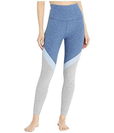 Beyond Yoga Tri-Panel Spacedye High Waisted Midi Leggings (Serene Blue/Hazy Blue/Blue Bells/Silver Mist) Women