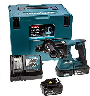 Makita DHR242RMJ 18V Li-Ion LXT Brushless Rotary Hammer - Complete with 2 x 4.0 Ah Li-Ion Batteries and Charger Supplied i...