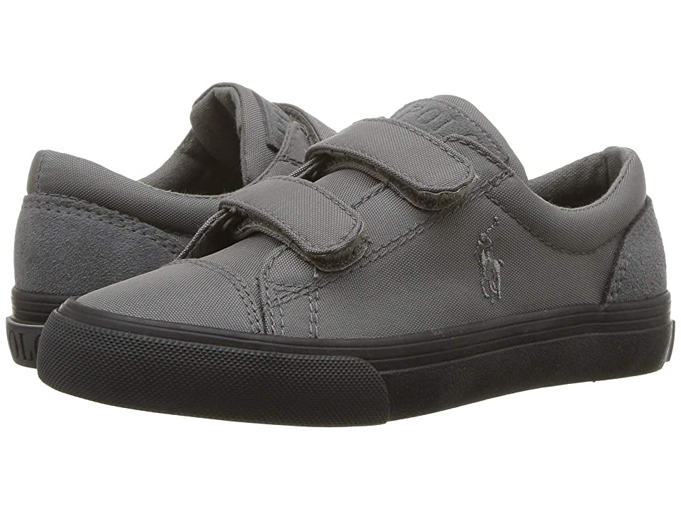 Polo Ralph Lauren Kids Brayden EZ (Toddler/Little Kid) (Charcoal Nylon/Suede/Charcoal PP) Boy