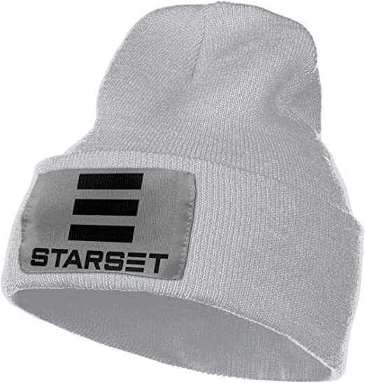 JorgAkem Starset Music Band Knit Beanies for Mens Womens Winter Hats Hedging Caps Black