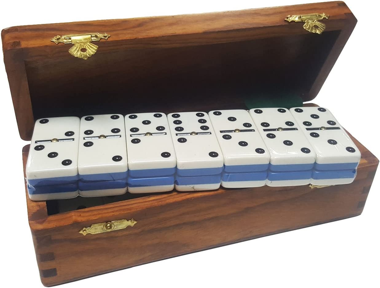 Domino Double low-pricing Six Two Tone Animer and price revision Blue Jointed Dovetail White Shee in