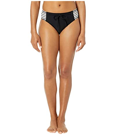Robin Piccone Sailor High Hip Bottoms (White/Black) Women