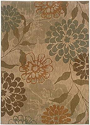 """Oriental Weavers 1134A Infinity Area Rug, 9' 10"""" x 12' 9"""", Beige/Green"""
