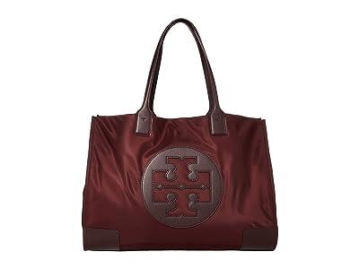 Tory Burch Ella Tote (Port) Handbags