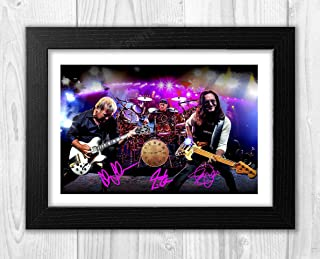 signed rush poster