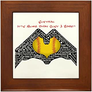 CafePress - Softball - It's More Than Just A Game! - Framed Tile, Decorative Tile Wall Hanging