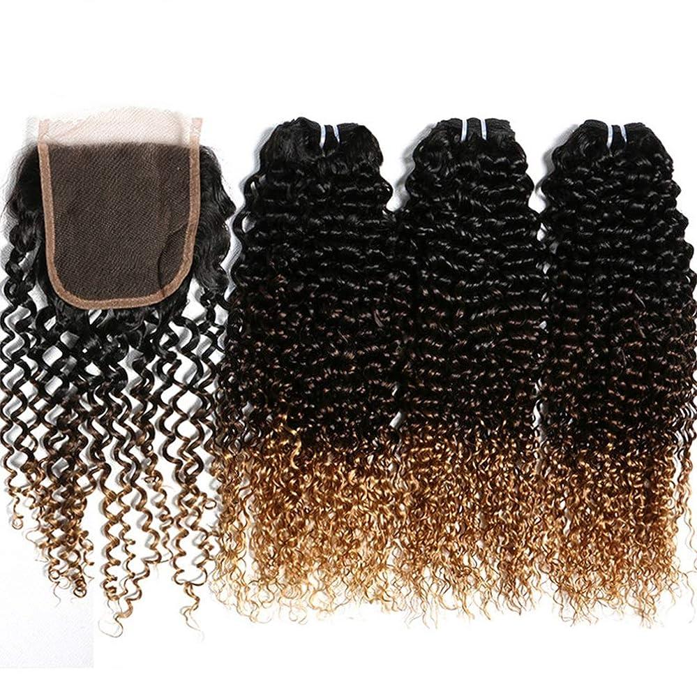ユーモア申し立て廃止女性ブラジルの髪の束と人間の髪の束を織り人の髪の束とブラジルの身体の波を織り(3束)