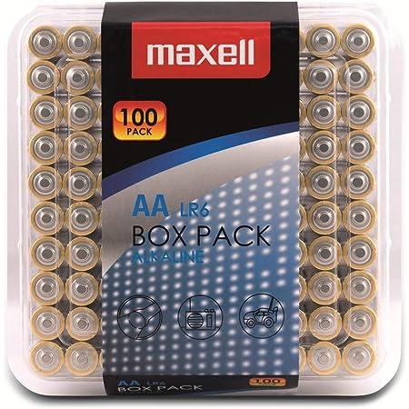 Maxell Alkaline LR6AA Batteries Box Pack (100Pack)